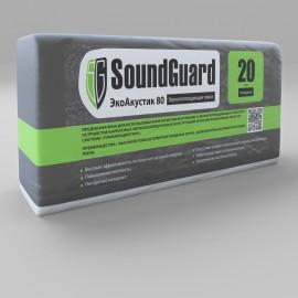 Плита звукопоглощающая SoundGuard ЭкоАкустик 80 1250х600х20мм (7,5м2) (0,15м3) (11,25кг)