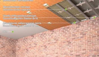 """Шумоизоляция потолка - система """"Стандарт+"""""""