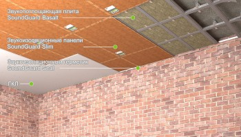 """Звукоизоляция потолка - система """"Эконом"""""""